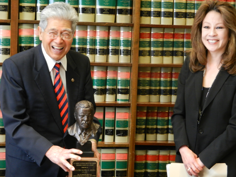 Akaka Awarded Honorary Theodore Roosevelt Award By The Merit Systems Protection Board
