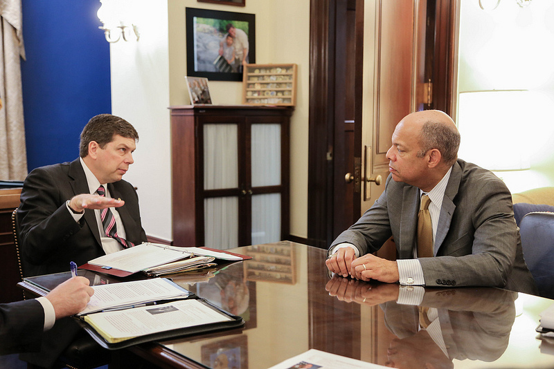 Senator Begich Meets With DHS Secretary Jeh Johnson