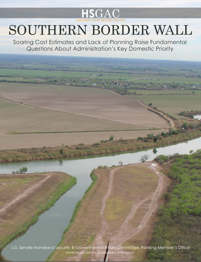 Southern Border Wall report cover