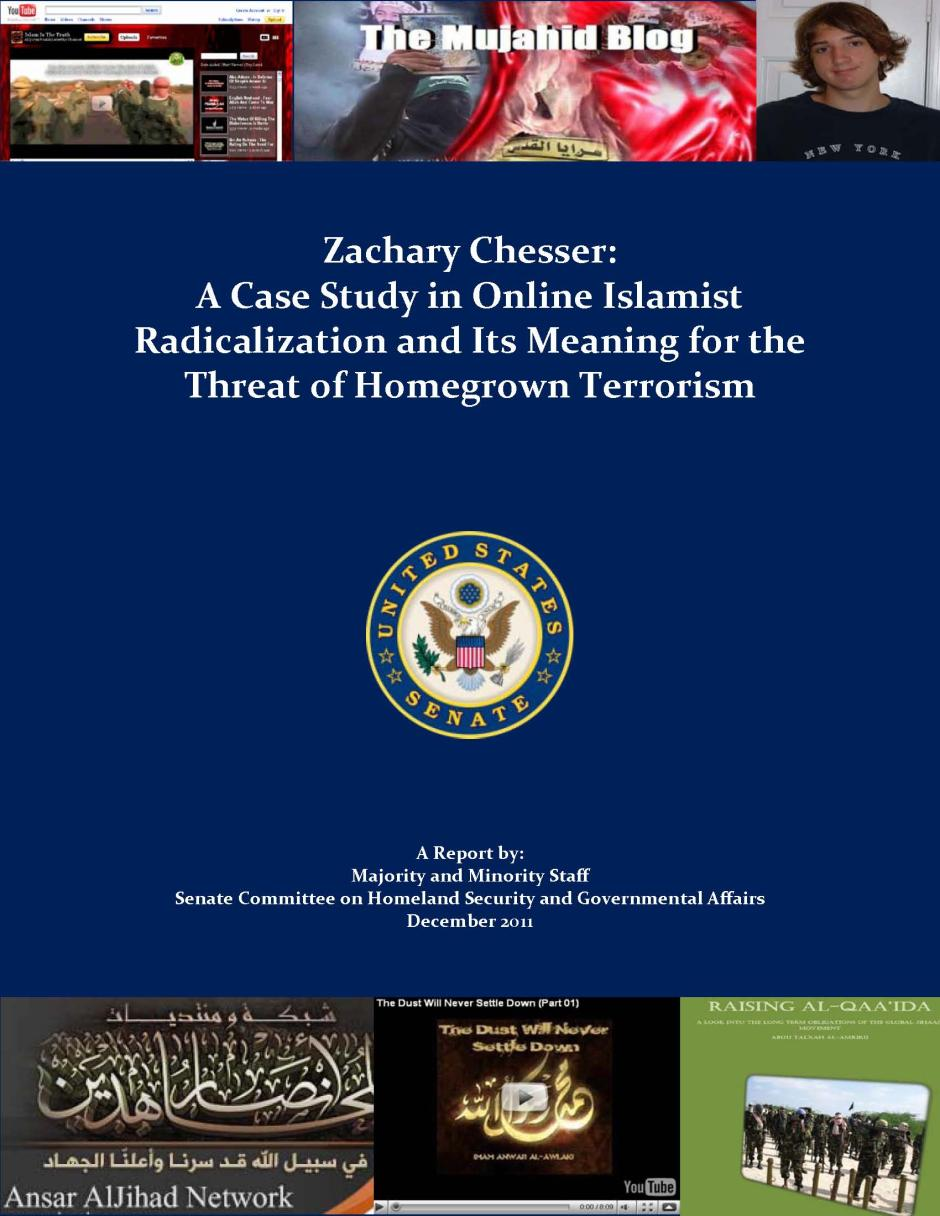 Zachary Chesser report cover