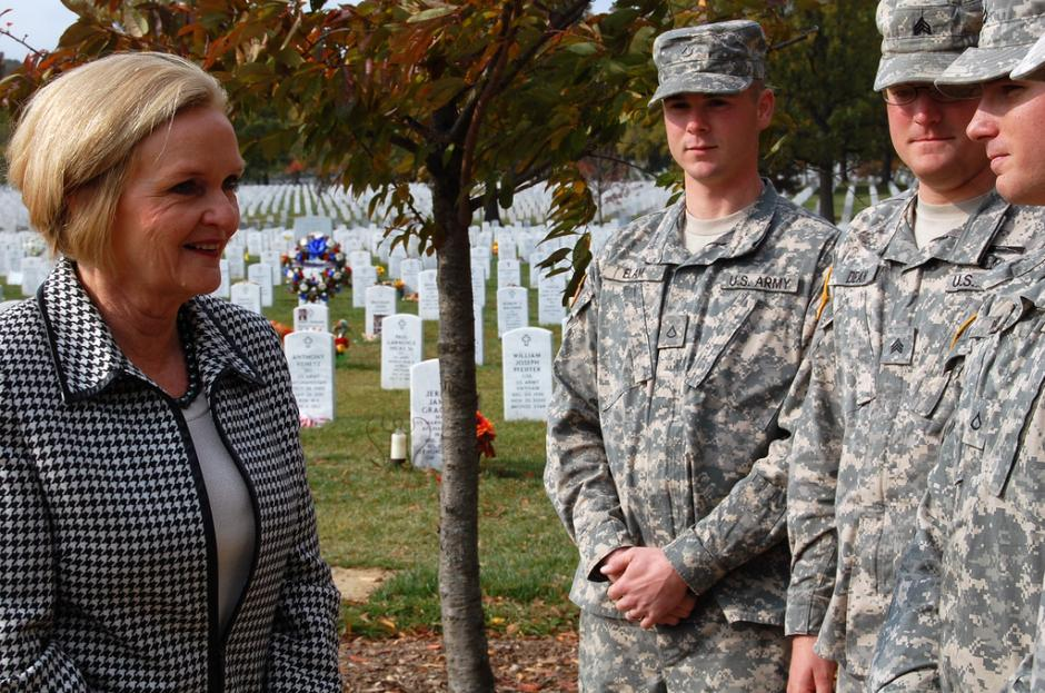 McCaskill Looks at Next Steps for Arlington National Cemetery